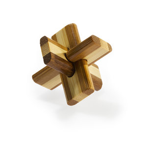 3D Bamboo puzzle - Doublecross