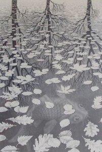 Drie Werelden :: M.C. Escher