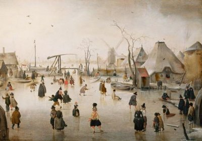 Ijsvermaak :: Hendrick Avercamp